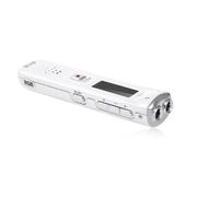 现代笔 K16 录音笔高清远距 智能降噪专业声控录音 MP3播放器 双麦克 学生会议必备 白色 8g