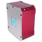 游戏悍将 冷静王-冰锋/红 铝制个性机箱(个性化面板/U3.0/背线/大电源/人性化挂件/全兼容SSD