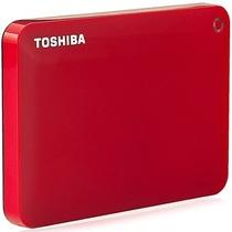 东芝 V8 CANVIO高端分享系列2.5英寸移动硬盘(USB3.0)1TB(活力红)产品图片主图