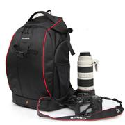 驼盟 单反相机包 双肩数码摄影包 专业防盗摄像机背包 红边 小号