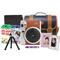 富士 checky拍立得mini90(棕色)相机套餐  棕色 套餐四产品图片1
