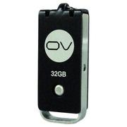 OV U09 32G 金属U盘 360度旋转 时尚推拉式设计 高速闪存盘 黑色