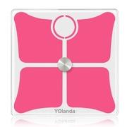 Yolanda CS20D智能人体脂肪秤 健康体重秤 婴儿电子秤 红色