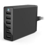 Anker 60W 多口USB充电器/多功能充电头/充电器头 适用于苹果安卓手机平板 黑色