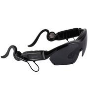 apphome 广百思K1 蓝牙眼镜 智能太阳眼镜 立体声耳机听歌接打电话 男女偏光太阳镜 黑色