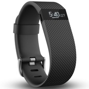 Fitbit Charge HR 智能乐活心率手环 心率实时监测 自动睡眠记录 来电显示 运动蓝牙手表计步器 黑色 L