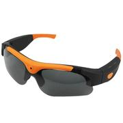 纳百川 智能眼镜 自行车摩托车高清720p骑行摄像眼镜 户外运动摄像太阳眼镜 桔色镜框黑色镜片-N16