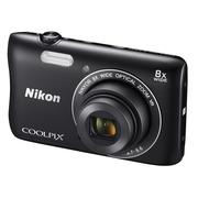 尼康 Coolpix S3700 便携数码相机 黑色(2005万像素 2.7英寸屏 8倍光学变焦 内置Wi-Fi/NFC)