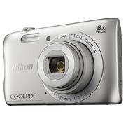 尼康 Coolpix S3700 便携数码相机 银色(2005万像素 2.7英寸屏 8倍光学变焦 内置Wi-Fi/NFC)
