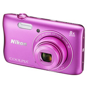 尼康 Coolpix S3700 便携数码相机 粉色(2005万像素 2.7英寸屏 8倍光学变焦 内置Wi-Fi/NFC)