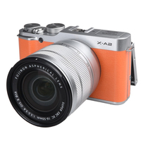 富士 X-A2 微单电套机(XC16-50II)热力橙 APS-C 自拍翻转屏 WiFi XA2时尚复古产品图片主图