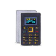 apphome K5 迷你卡片小手机新款个性袖珍薄儿童学生男女卡片小手机 银色 普通版