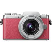 松下 Lumix DMC-GF7 微型单电双镜套机 粉色(12-32mm+35-100mm 手动变焦 GF6升级版 DMC-GF7WGK-P)