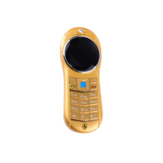 apphome 卡片手机 迷你手机袖珍小手机跑车手机魔镜超薄袖珍迷你低幅射护眼 儿童手机 卡片手机 金色