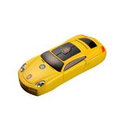 apphome 新款创意迷你小汽车直板小手机双卡双待学生儿童个性袖珍打火机手机 金色