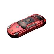 apphome 新款创意迷你小汽车直板小手机双卡双待学生儿童个性袖珍打火机手机 红色