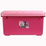 爱丽思 RV600 环保后备箱储物箱 车载整理收纳箱 粉色 40升