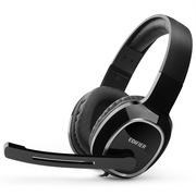 漫步者 K815 高音质立体声通讯游戏耳麦 游戏耳机 电脑耳机 黑色
