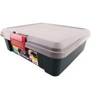 爱丽思 RVBOX450F 环保后备箱储物箱 车载整理收纳箱 蓝灰色 扁型收纳箱 容量约20升