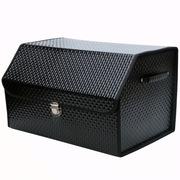 趣行 汽车尾箱折叠置物箱 车用后备箱储物整理箱 车载收纳箱 35升 黑色漆皮钻石纹