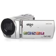 爱国者 AHD-S30 数码摄像机 银色(510万像素 1080P高清摄像 3.0英寸液晶屏 遥控拍摄 内赠8G卡)