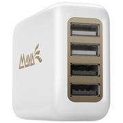 玛雅 智能4合1环球充电器 带USB口快充手机苹果三星平板 出国旅行转换插头400U-W