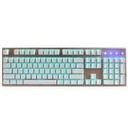 凯酷 Hero 104 RGB 荣耀香槟金混光机械键盘 游戏背光键盘 青轴