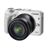 佳能 EOS M3(EF-M 18-55mm f/3.5-5.6 IS STM)微型单电套机 白色