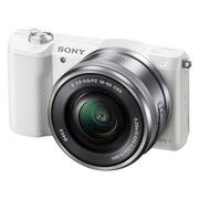 索尼 ILCE-5100L 微单套机 白色(16-50mm镜头 2430万像素 a5100/α5100)