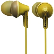 松下 RP-HJE125GK-Y 缤纷入耳式耳机 黄色 佩戴舒适  隔绝噪音 音质清晰
