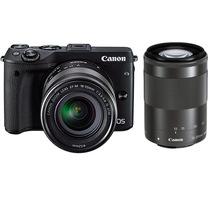 佳能 EOS M3(18-55mm f/3.5-5.6 IS STM、55-200mm f/4.5-6.3 IS STM)微型单电双头套机 黑色产品图片主图