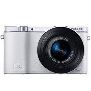 三星 NX3300自拍 时尚微型单电套机 (20-50mm) (白色)蓝调经典款