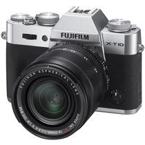 富士 X-T10 微单电套机(XF18-55)银色 APS-C 去低通滤镜 WIFI操控 翻折显示屏 XT10轻旗舰产品图片主图