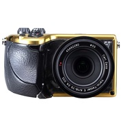 哈苏 3012573 Lunar 单电套机(Zeiss 16-70mm F/4 镜头) 黄金限量版 黑色鹿皮革手柄