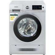 西门子 XQG75-WD14H4681W 7.5公斤 3D空气冷凝 滚筒洗衣干衣机(银色)