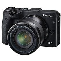 佳能 EOS M3(EF-M 18-55mm f/3.5-5.6 IS STM) 微型单电套机 黑色套装版(16G卡+相机包)产品图片主图