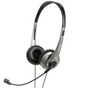 松下 RP-HM111E-S 头戴式耳机耳麦 银色 可调式头梁 耳罩柔软