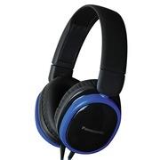 松下 RP-HX250ME-A 头戴式耳机 蓝色 手机 电脑耳罩式耳机 带线控麦克风