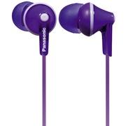松下 RP-TCM125E-V 入耳式耳机 紫色 佩戴舒适 带线控麦克风 隔绝噪音 音质清晰
