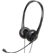 松下 RP-HM111E-K 头戴式耳机耳麦 黑色 可调式头梁 耳罩柔软