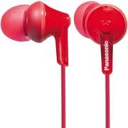 松下 RP-HJE125GK-R 缤纷入耳式耳机 红色 佩戴舒适  隔绝噪音 音质清晰