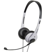 松下 RP-HM111E-W 头戴式耳机耳麦 白色 可调式头梁 耳罩柔软
