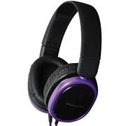 松下 RP-HX250ME-V 头戴式耳机 紫色 手机 电脑耳罩式耳机 带麦克风