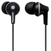松下 RP-TCM125E-K 入耳式耳机 黑色 佩戴舒适 带线控麦克风 隔绝噪音 音质清晰