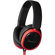 松下 RP-HX250ME-R 头戴式耳机 红色 手机 电脑耳罩式耳机 带麦克风