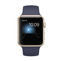 苹果 Watch Sport 智能手表(42mm/金色铝金属表壳/午夜蓝色运动型表带)产品图片主图