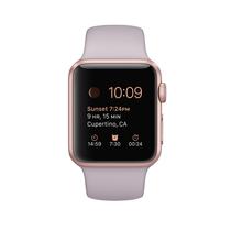 苹果 Watch Sport 智能手表(38mm/玫瑰金色铝金属表壳/薰衣草紫色运动型表带)产品图片主图