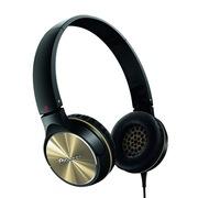 先锋  SE-MJ532-N 头戴式便携折叠时尚出街耳机 金色