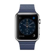 苹果 Watch 智能手表(42mm/不锈钢表壳/午夜蓝色皮制回环形表带/中号)