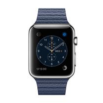 苹果 Watch 智能手表(42mm/不锈钢表壳/午夜蓝色皮制回环形表带/中号)产品图片主图